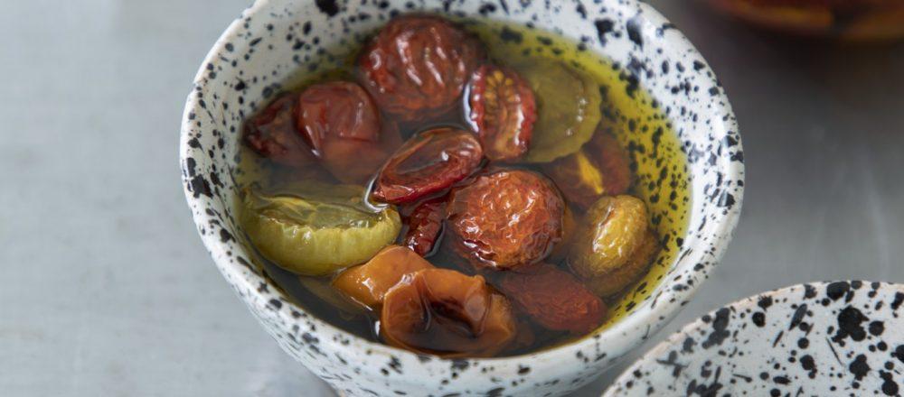 「セミドライトマトのオイル漬け」のレシピ
