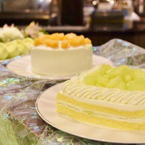 「メロンのショートケーキ」。