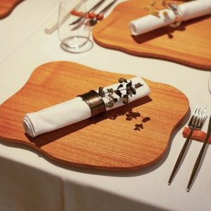 藤木さん自らが考案したテーブルセッティングも素敵。
