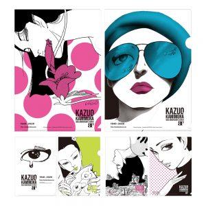アートエキシビジョン「manazashi」(眼差し)のオリジナルクリアファイル2枚セット、1,760円 (税込)。