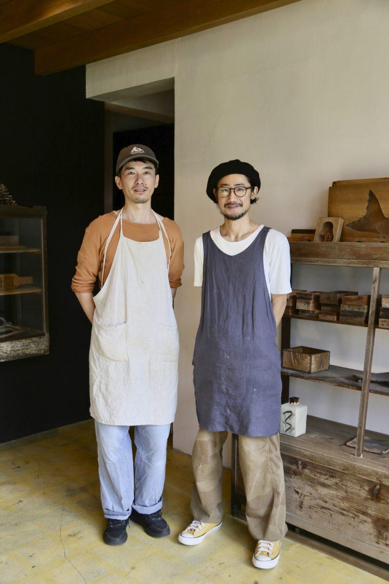 屋部龍馬(右:やぶ・りょうま)武山忠司(左:たけやま・ただし)/パン職人の屋部さんとデザイナーで実家が和菓子店を営んでいた武山さんがコラボレーション。「琉球菓子の幅も広げていきたいです」