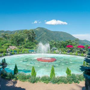 #箱根強羅公園 #噴水と大文字山 #お散歩