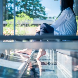 #岡田美術館 #テラスで足湯