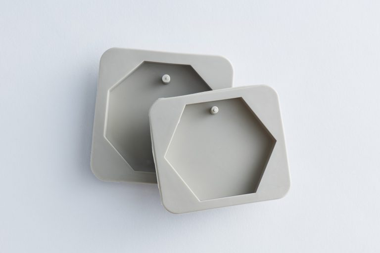 サシェ型シリコンモールド/ソープとして使うなら 通し穴ナシタイプを。
