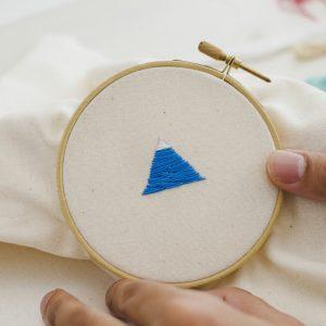 ワンポイント刺繍