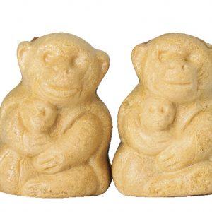 銘菓「比叡のお猿さん」。こしあんと刻み栗の食感が◎。1個152円(税込)。