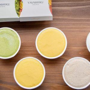 着色料・乳化剤不使用。不揃い品の果実などを使用したサステナブルなジェラート〈YASASHIKU Gelato〉。