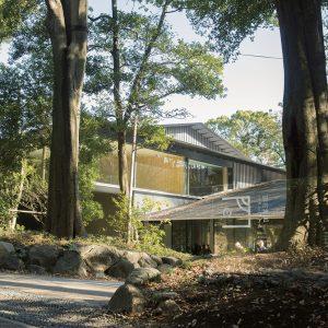 杜と調和するようなおだやかな勾配の屋根が特徴。設計は隈研吾氏。