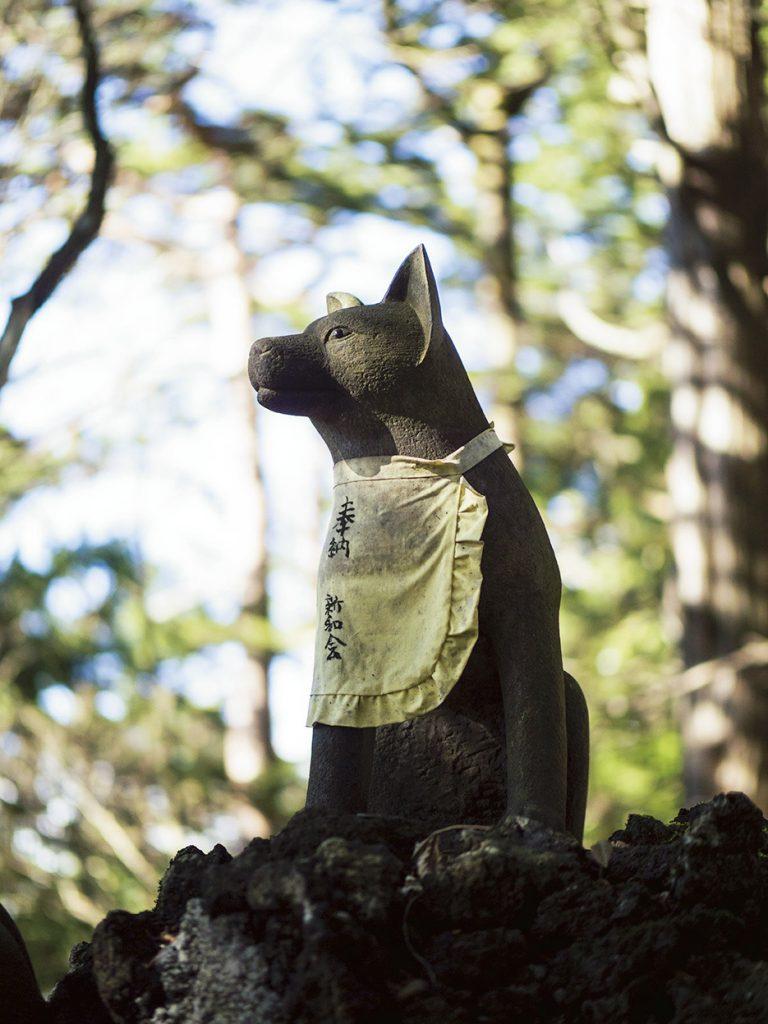 狼が「御眷属」様として祀られている。