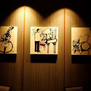 館内に飾られたアートも魅力の1つ。