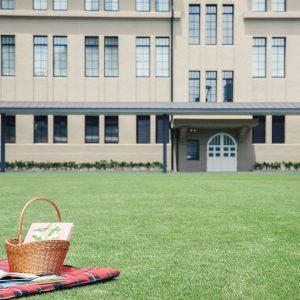 読書会員(年会費1,000円)になると、図書3冊を2週間借りられ、レジャーシートや本を入れて持ち運べるバスケットの貸し出しも。お隣の〈トラベリングコーヒー〉で使えるコーヒーチケット1枚付き。