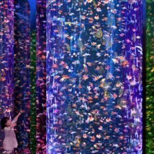 東京・日本橋に3万匹もの金魚が幻想的な空間で泳ぐ、〈アートアクアリウム美術館〉がニューオープン!