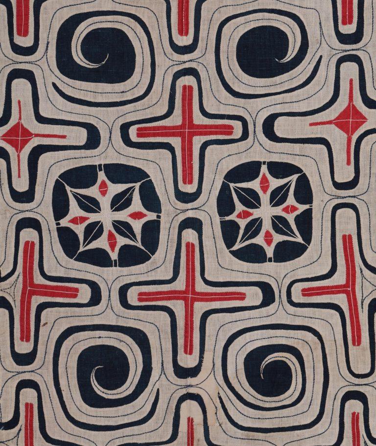 木綿切伏刺繍衣裳(部分)北海道アイヌ19世紀日本民藝館蔵