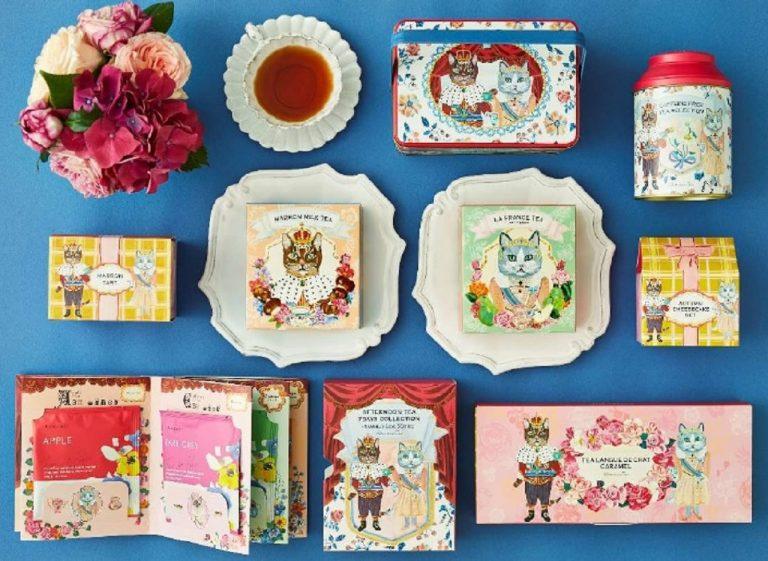 """ROYAL TEATIME""テーマに、ネコのキングとクイーンが優雅にお茶を楽しむ時間を。"