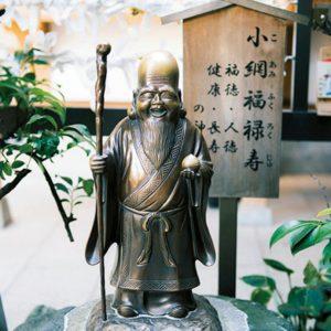 日本橋七福神の一柱の福禄寿。小網神社は福禄寿のほか、弁財天も祀る。