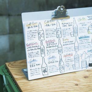 クラフトビールからハイボール、ワイン、日本酒までそろう。