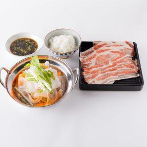 「黒豚ミックスしゃぶ鍋」1,880円。