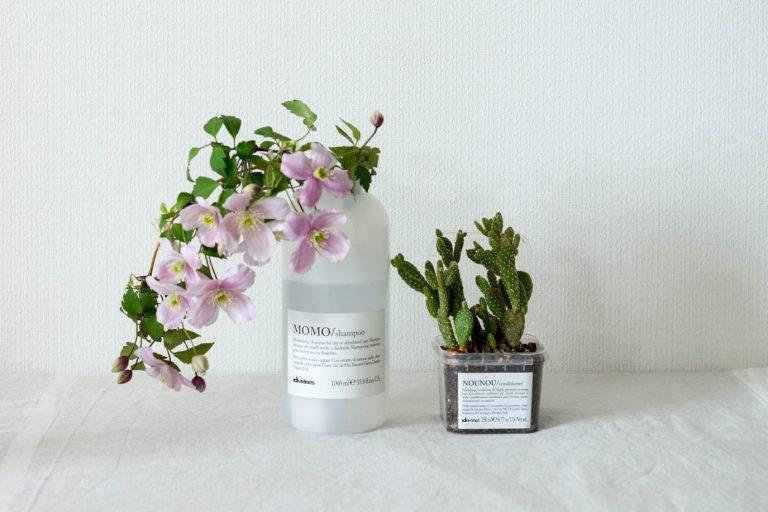 『シャンプーやコンディショナーの容器に花やサボテンを。』(whyte トップスタイリスト・中島潮里さん)