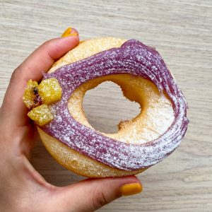 「ムチモチ 紫芋 モンブラン」240円。