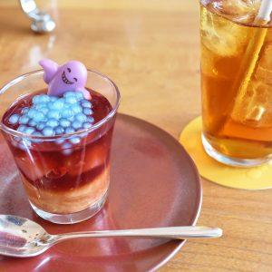 「ブルータピオカ 洋梨のコンポート ザクロジュレ」は紅茶とよく合う。