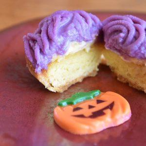 「紫芋のタルトモンブラン」。
