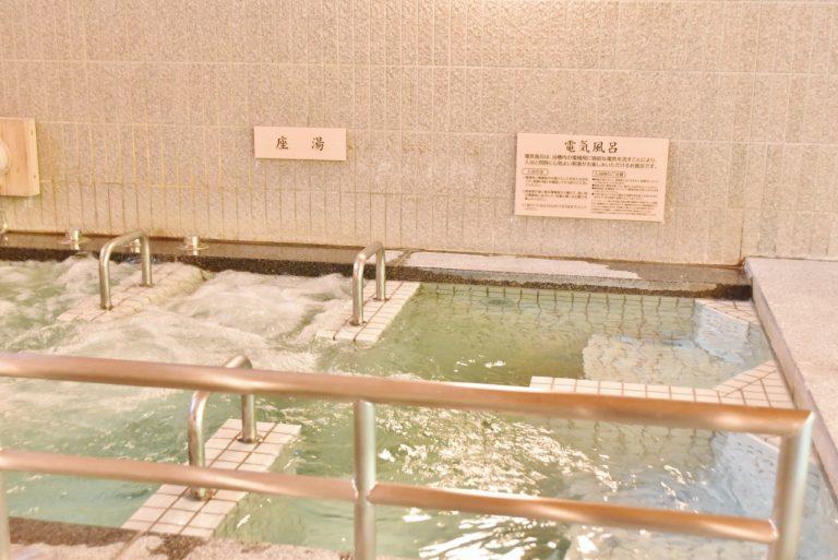 「座湯」と「電気風呂」。