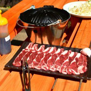美味しそうな羊肉。