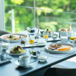 〈十邑〉の洋朝食。