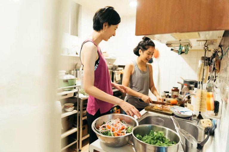 食事は自炊というタフィー。野菜と適度のタンパク質を摂るようにしている。