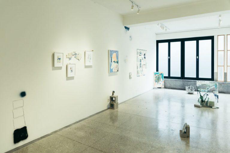 3階はギャラリー。2017年にエステルさんも「《閒暇者的忙碌凝視》」という個展を開いた。