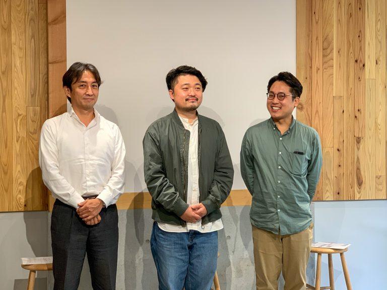左から、小田急電鉄 橋本崇さん、散歩社 内沼晋太郎さん、小野裕之さん。