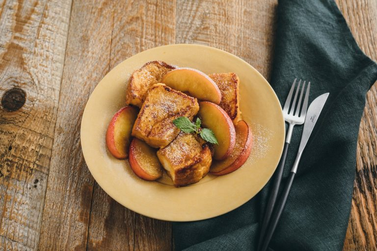 りんごのみそフレンチトースト
