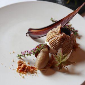【大阪】天守閣を望むレストラン〈レストラン ラズベリー ウィズ ムーンバー〉へ。旅するように一府五県のガストロノミーツーリズムを味わう「新和食」。