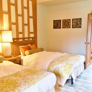 ホテルと変わらない品質の寝具。