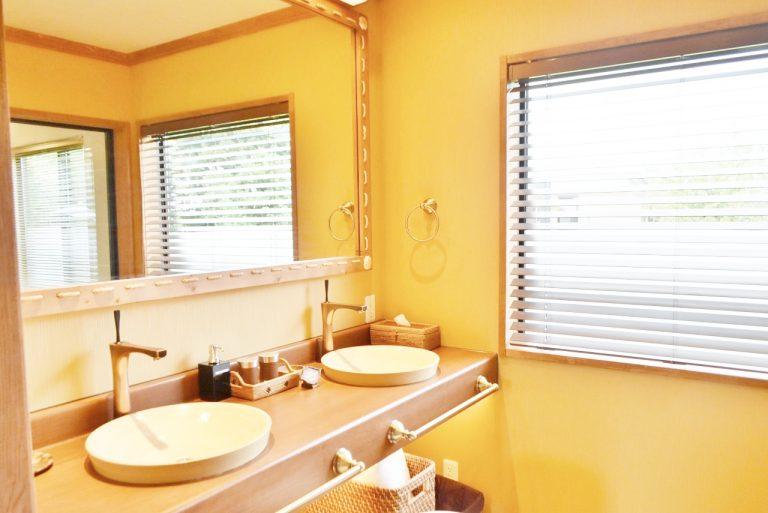 洗面所はWシンクで便利。