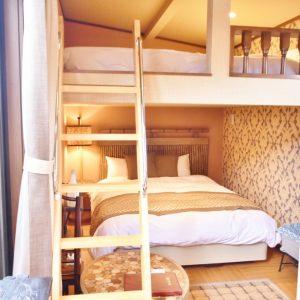 「アイランド ヴィラ テラス6」は2段ベッド。