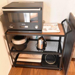 電子レンジと炊飯器はバルミューダー。