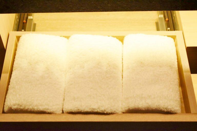 日本製「ホットマン」のフェアトレードコットンのタオル。
