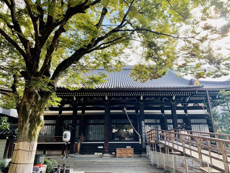 まずは本堂へお参り。室町時代の粋を集めた木造大建築。総建坪587.4㎡(178坪)の総けやき材で、創立当時の面影を残す登録有形文化財。