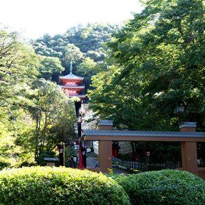 岐阜城にはロープーウェイで。