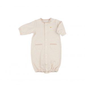 オーガニックコットンを使用した長袖ドレスオール(50〜60cm)1,980円。