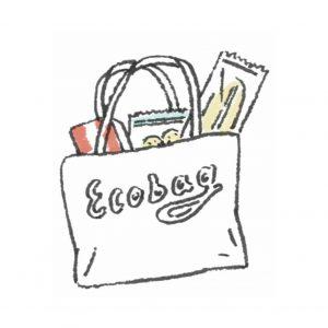 THEME #2:「プラスチック対策」マイバッグや紙素材に置き換えて使っていく。レジ袋やプラスチック製容器など、たった一回の使用で捨てられてしまうプラスチックの使用を削減する。2030年までにプラスチック製のレジ袋の使用量ゼロへ。2050年までに使用する容器は100%環境配慮型素材にする。
