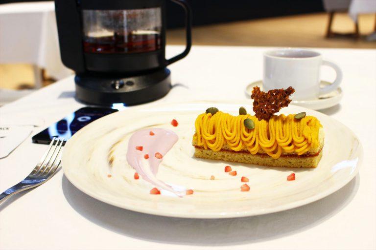 カボチャのモンブラン 優しいメープルの香り/Fruity Japanese Black 95℃60sec。