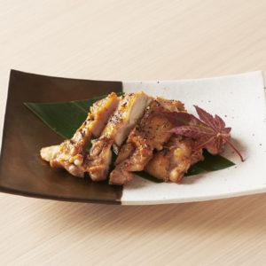 「オリーブ地鶏のゆず味噌焼き」1,200円。