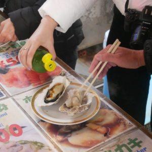 牡蠣も一つひとつが大きくて、さすが北海道!