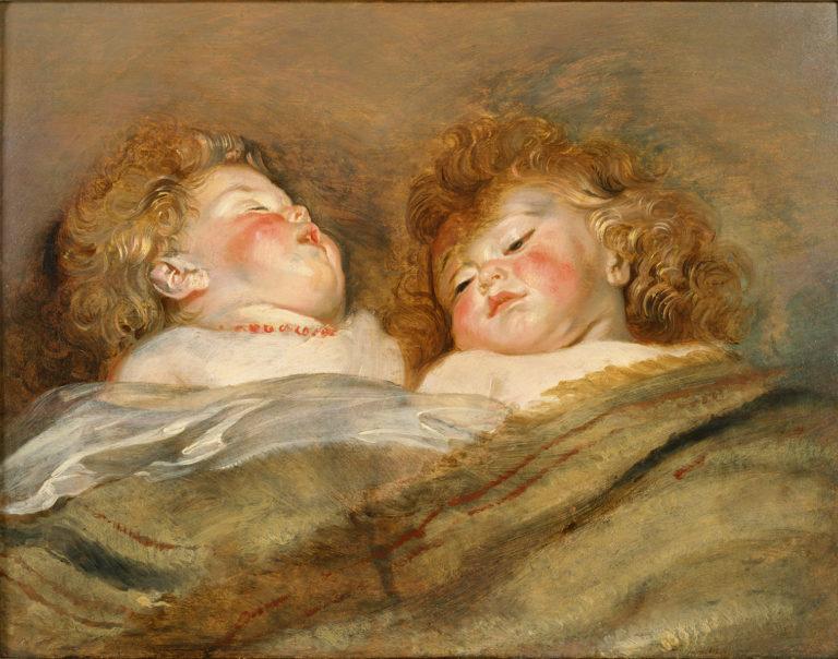 ペーテル・パウル・ルーベンス《眠る二人の子供》1612-13年頃 油彩、板 50.5×65.5cm  国立西洋美術館蔵