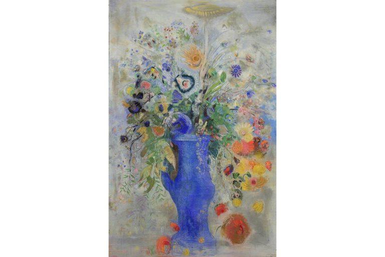 オディロン・ルドン《グ ラン・ブーケ(大きな花束)》1901年 パステル/画布 248.3×162.9cm 三菱一号館美術館蔵