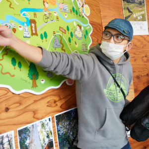 代表・神野賢二さん(通称ジンケンさん)におすすめのコースや季節ならではの見所も教えていただきました。