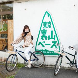 土屋さんはネイビー、村上さんはグリーンの自転車に決定!