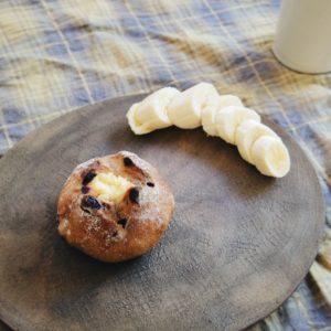 「パン・ド・ミルティユ」。イモ虫のようなバナナはなぜ添えてしまったのか…自分でも謎。